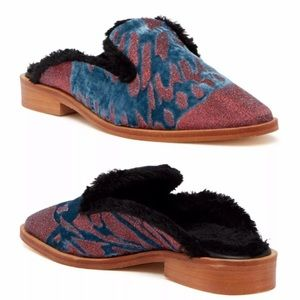 Free People Butterfly Effect Faux Fur Loafer Mule